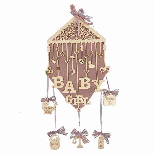 Αναμνηστικό Γέννησης Baby Girl