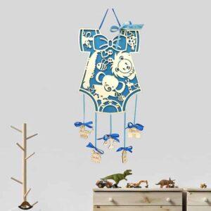 Αναμνηστικό Γέννησης Φανελάκι Με Ζωάκια μπλε