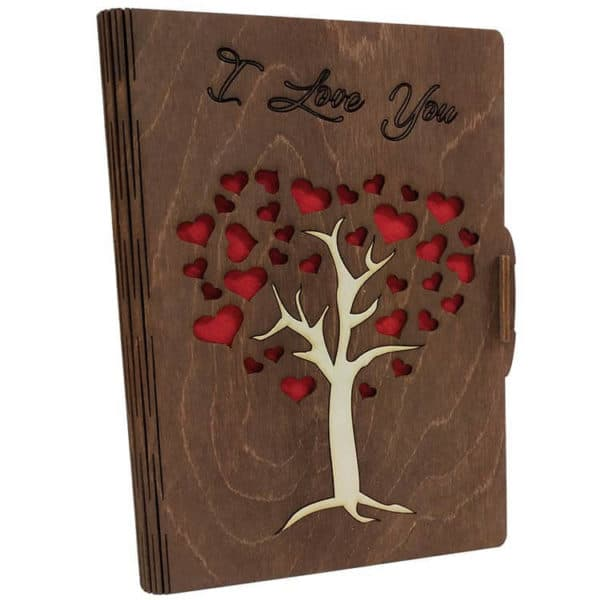 Κάρτα ευχών δέντρο καφέ