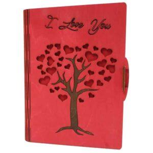 Κάρτα ευχών δέντρο κόκκινο