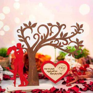 Δώρο Αγίου Βαλεντίνου Δέντρο με Κρεμαστή Καρδιά