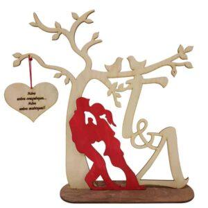 Δώρο Αγίου Βαλεντίνου Ζευγάρι Με Κρεμαστή Καρδιά