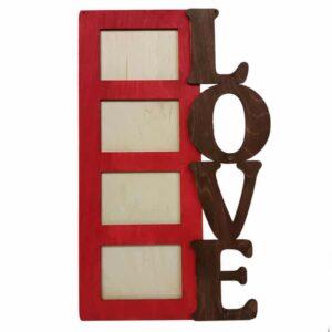 Κορνίζα Love κόκκινη