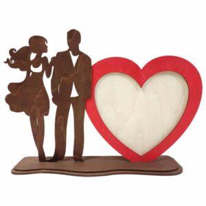 Δώρο Αγίου Βαλεντίνου Κορνίζα Καρδιά Με Ζευγάρι