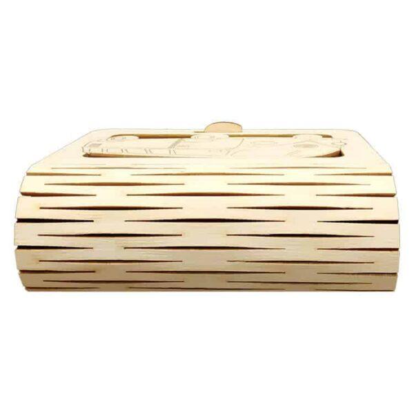 Ξύλινο Κουτί Μπομπονιέρας Βάπτισης Νεράιδα.