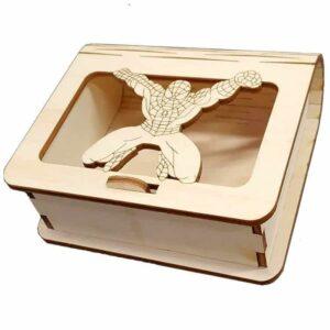 Ξύλινο Κουτί Μπομπονιέρας Spiderman.