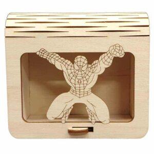 Ξύλινη Μπομπονιέρα Spiderman