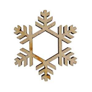 Ξύλινη Χριστουγεννιάτικη Χιονονιφάδα