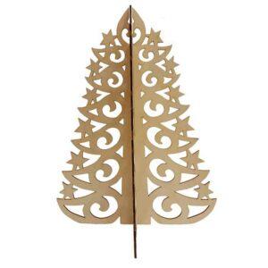 Ξύλινο Χριστουγεννιάτικο Δέντρο Με Αστέρια πρόσοψη