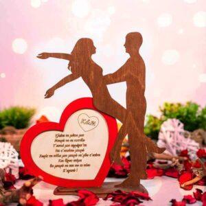 Δώρο Αγίου Βαλεντίνου ζευγάρι με καρδιά