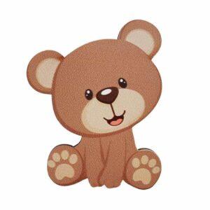 Ξύλινο έγχρωμο στοιχείο Αρκουδάκι
