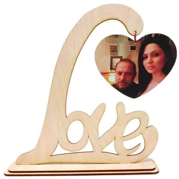 Δώρο Αγίου Βαλεντίνου Σταντ Love ξύλου