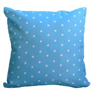 Μαξιλάρι Δίχρωμο Πουά Γαλάζιο