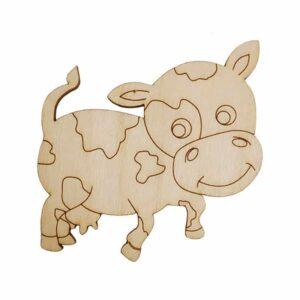 Ξύλινο χαραγμένο στοιχεία αγελάδα