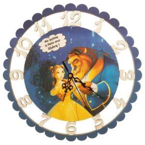 Ξύλινο Ρολόι Τοίχου Πεντάμορφη και το Τέρας
