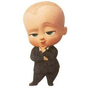 Ξύλινο Έγχρωμο Στοιχείο Boss Baby