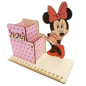 ξύλινη Μολυβοθήκη Minnie Mouse