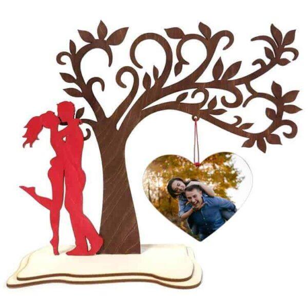 Δώρο Αγίου Βαλεντίνου Δέντρο Με Κρεμαστή Φωτογραφία
