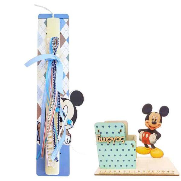 Πασχαλινή Λαμπάδα Mickey Mouse Με Μολυβοθήκη