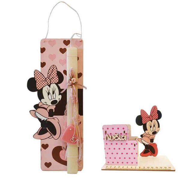 Λαμπάδα Minnie Mouse Με Μολυβοθήκη