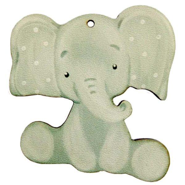 Ξύλινο Έγχρωμο Στοιχείο Ελέφαντας